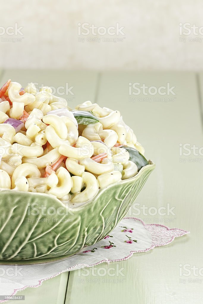Macaroni Salad royalty-free stock photo