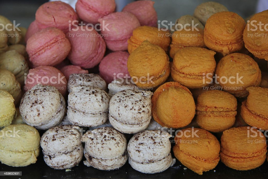 Macarons in a French shop royalty-free stock photo
