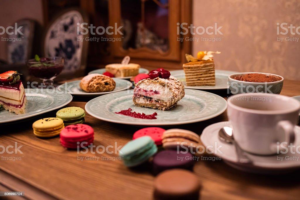 macaroon, cake, pie stock photo