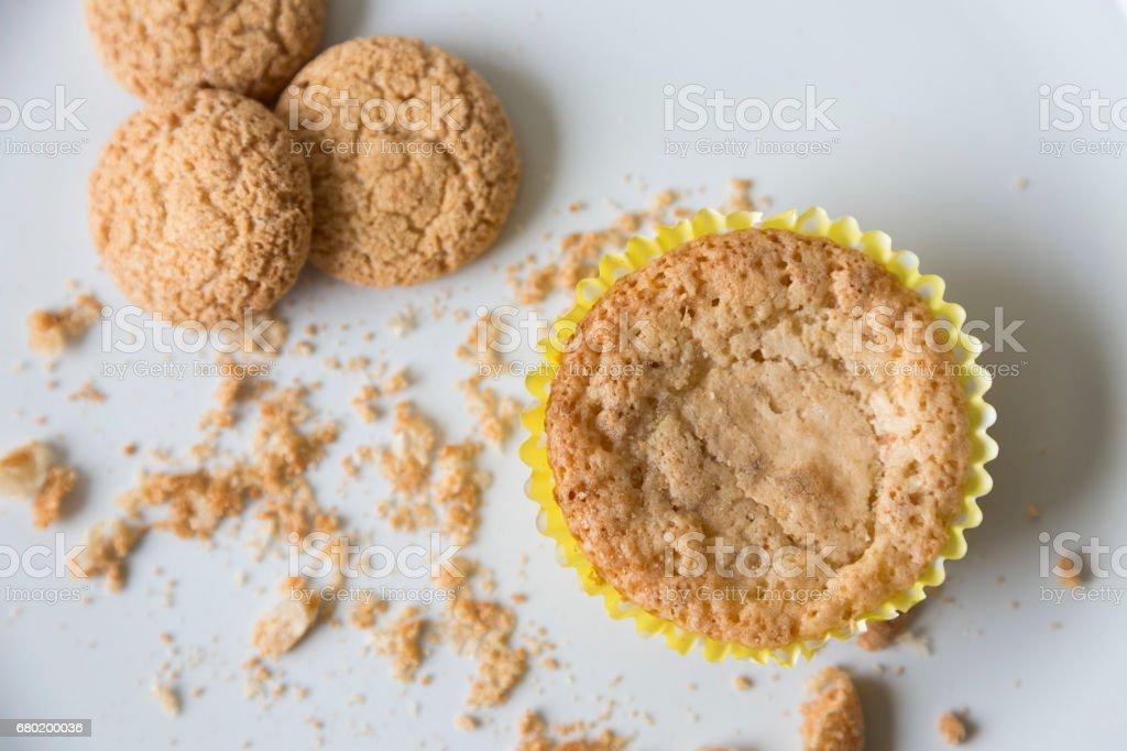 Macaroon Muffins stock photo