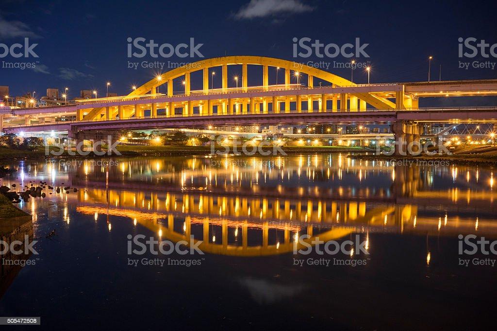 MacArthur bridge Taipei Taiwan stock photo