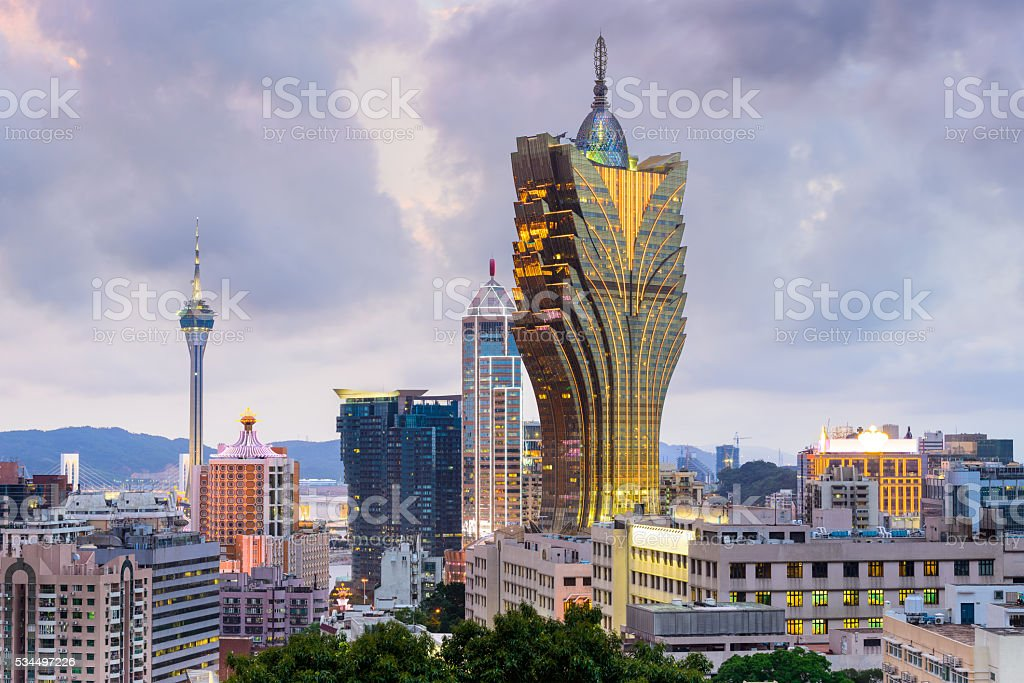 Macau, China Skyline stock photo