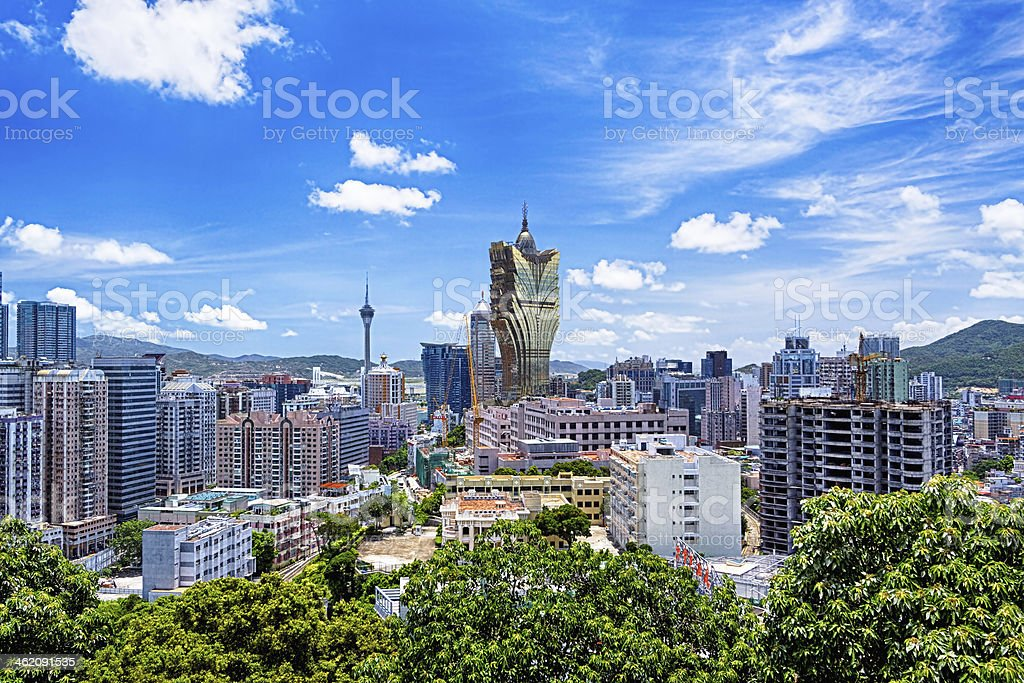 macau city day stock photo