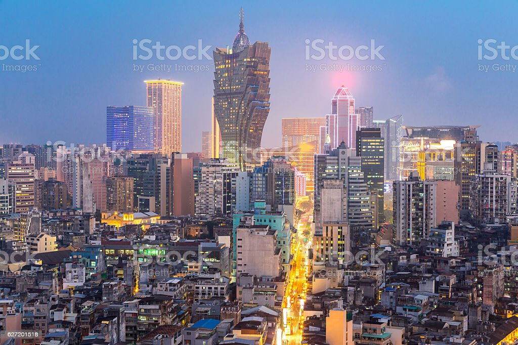 Macau cityscape stock photo