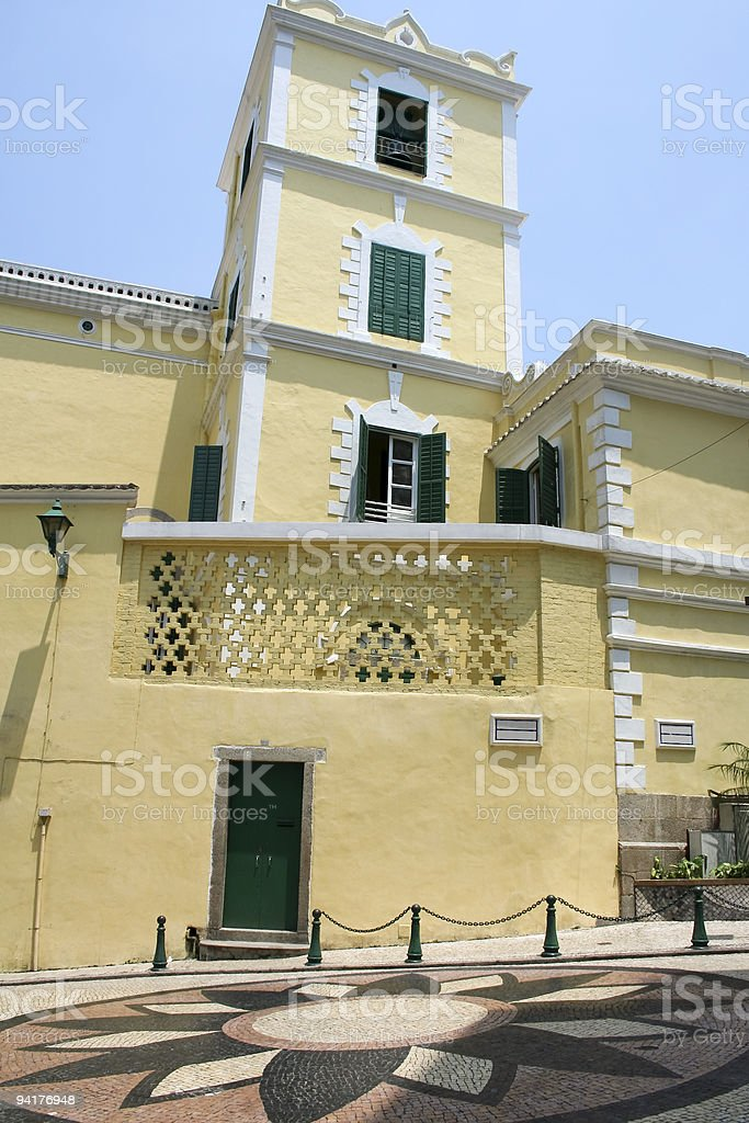 macau colonial architecture royalty-free stock photo
