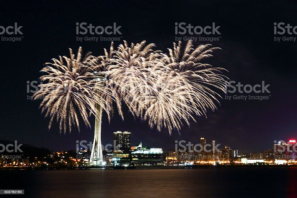 Macau Firework Show stock photo