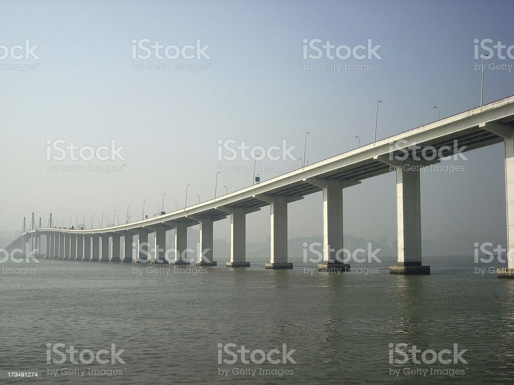 Macau Friendship Bridge stock photo