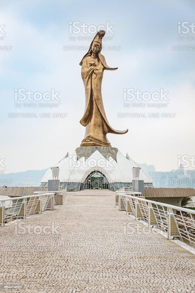Macau Kun Iam Goddess of Mercy Statue Macau China stock photo