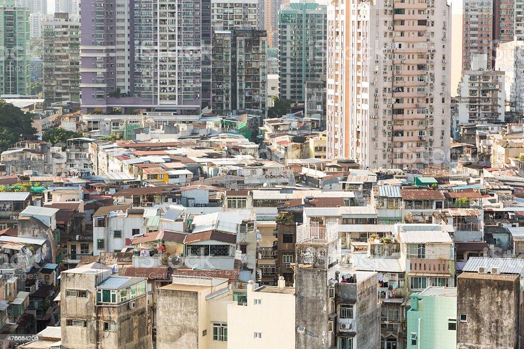 Macau residential high density stock photo