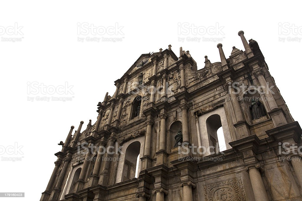 Macau Ruins of St. Paul stock photo