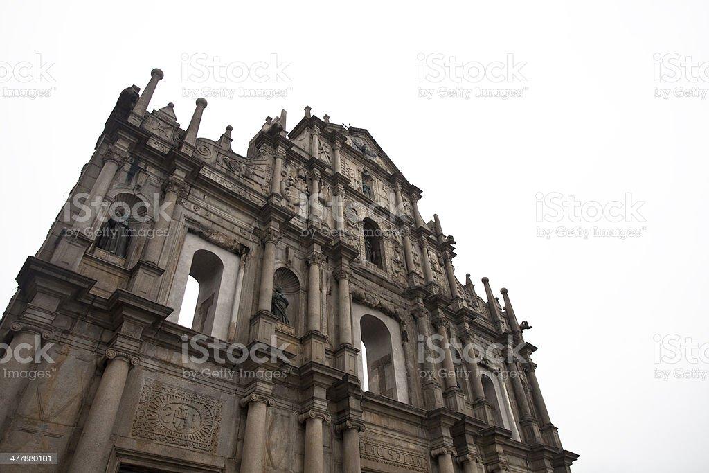 Macau Ruins of St. Paul royalty-free stock photo
