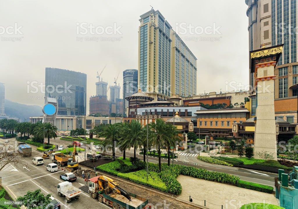 Macau Sands Cotai Central casino luxury resort in Cotai Strip stock photo