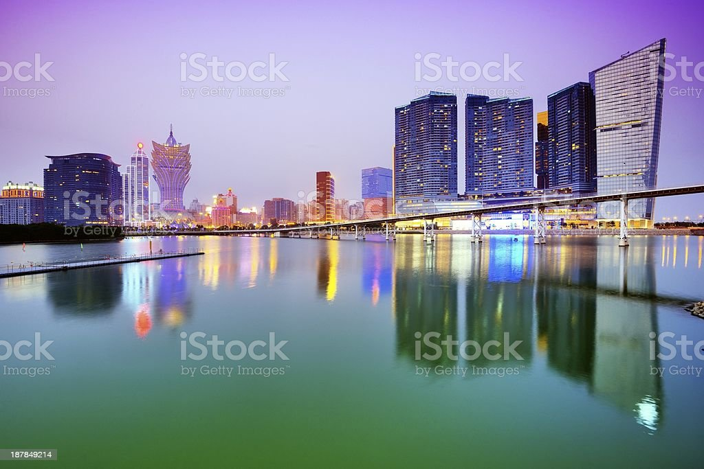Macau Skyline stock photo