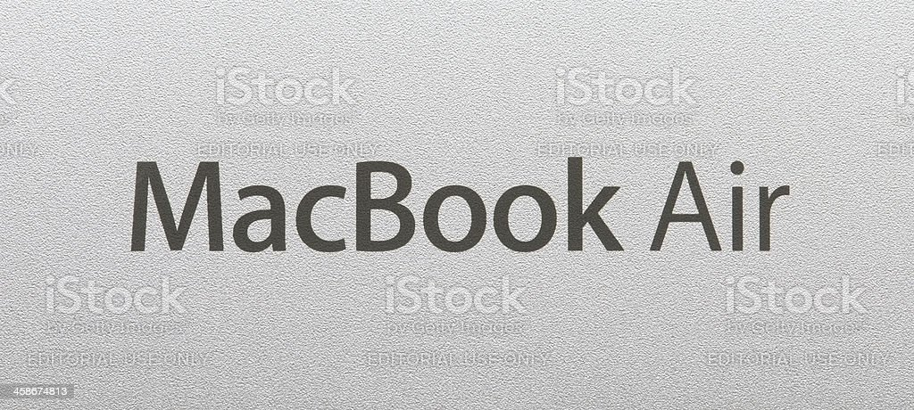 MacBook Air logo stock photo
