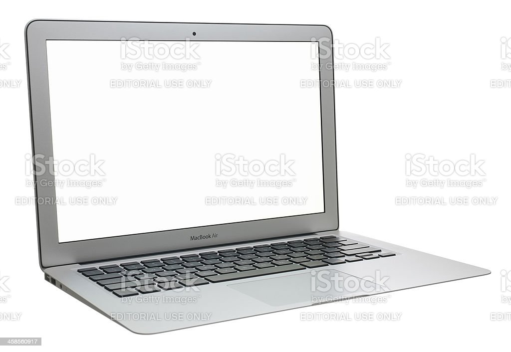 MacBook Air with a Blank Screen stock photo