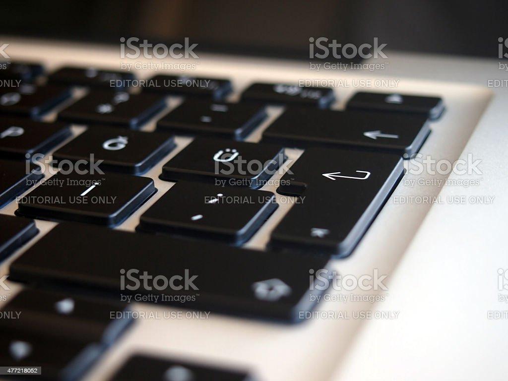 MacBook Pro Computer keyboard stock photo