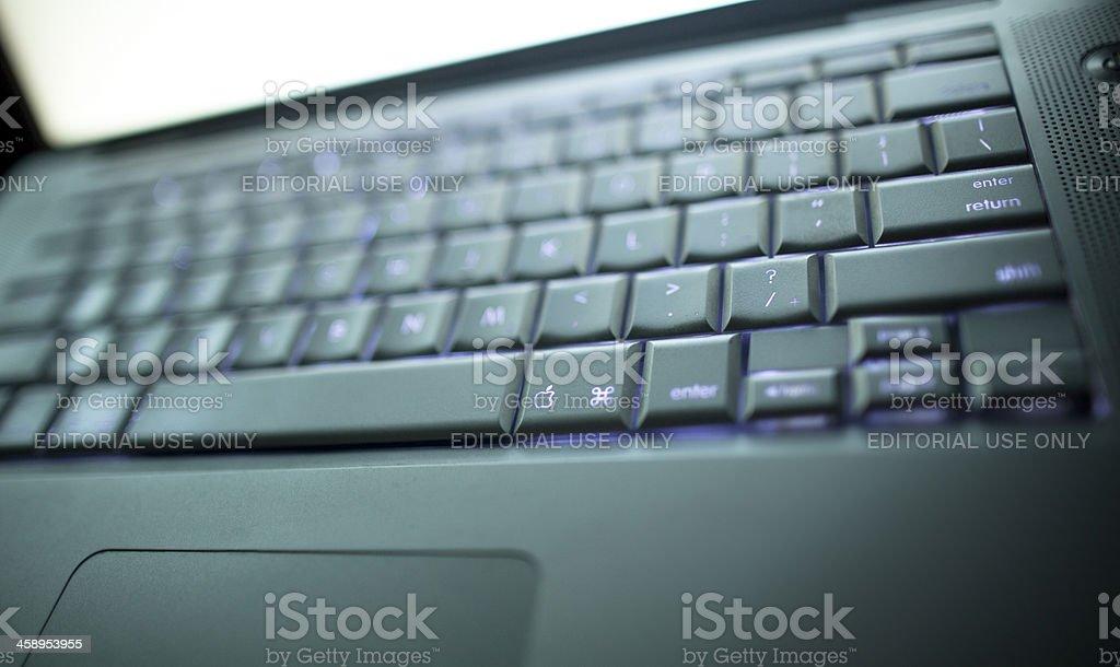 Macbook Pro laptop, logo visible royalty-free stock photo