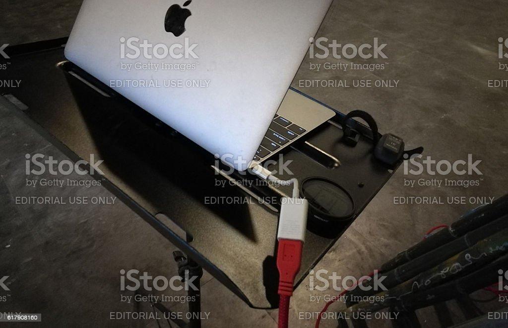 Macbook Tethering stock photo