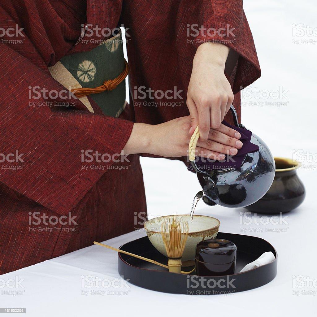 Maccha tea ceremony royalty-free stock photo