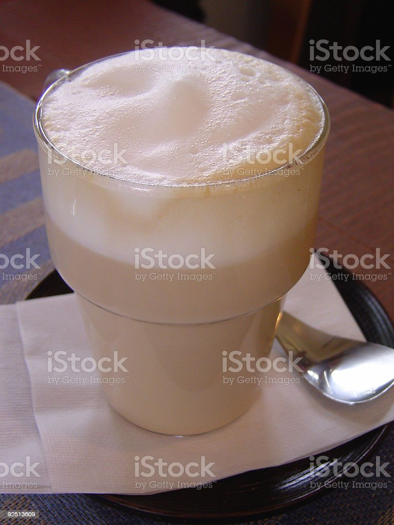 Latte Macciato stock photo