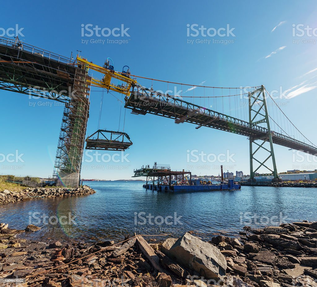 MacDonald Bridge Redecking Project stock photo