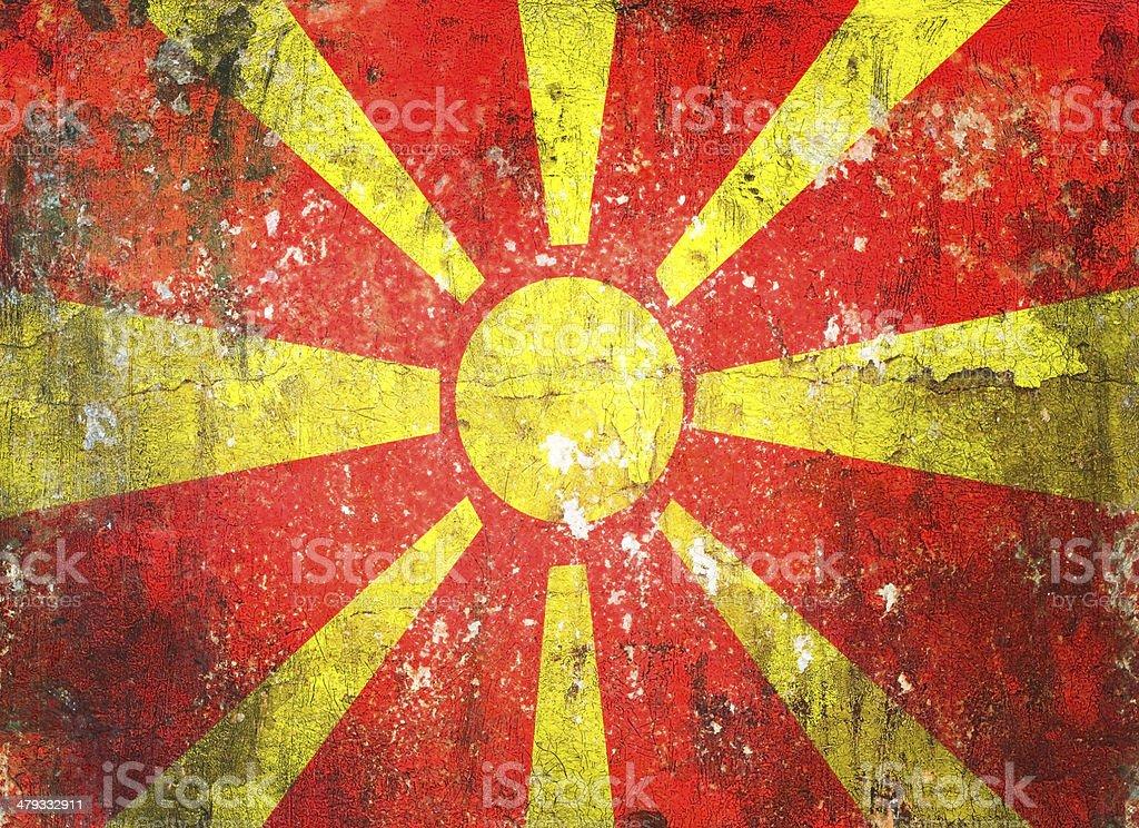 Macedonia flag grunge vintage retro style stock photo