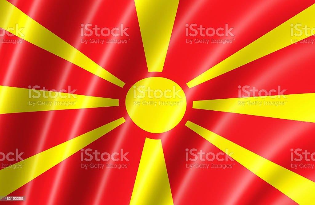 Macedonia Flag stock photo