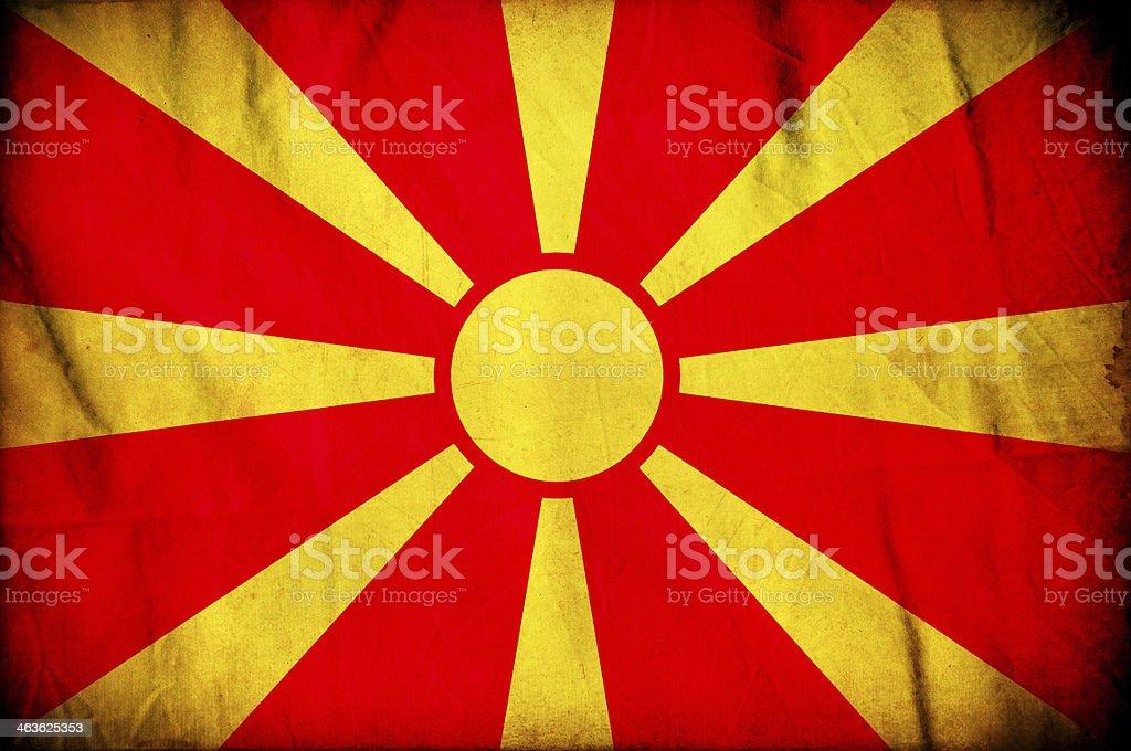 Macedonia grunge flag stock photo