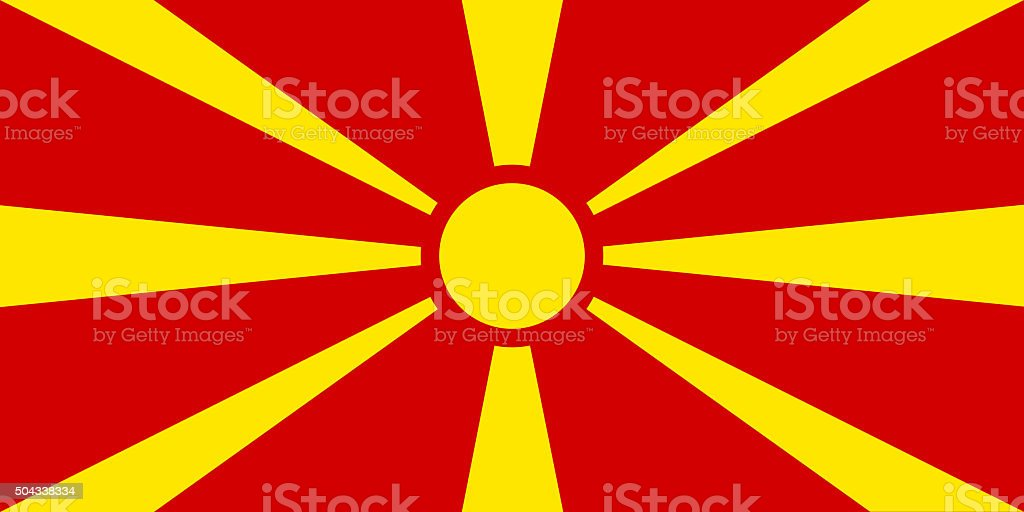 Macedonia National Flag stock photo