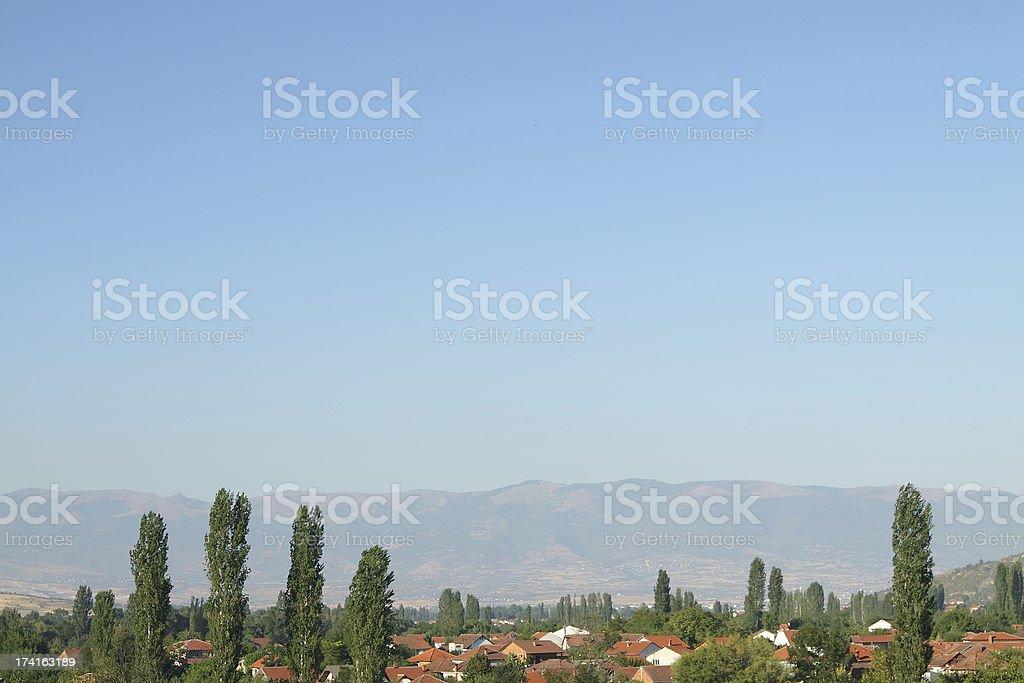 Macedonia, Village off Skopje royalty-free stock photo