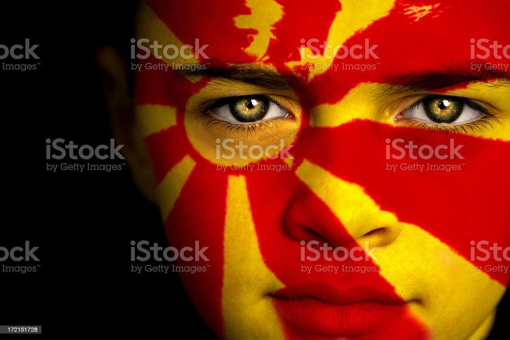 Macedonian boy stock photo