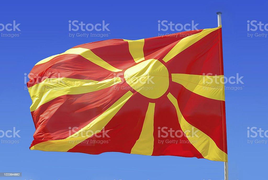 macedonian flag stock photo
