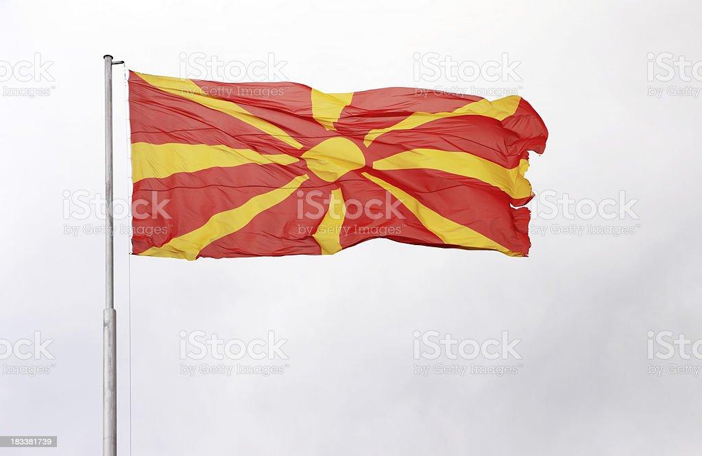 Macedonian National Flag stock photo