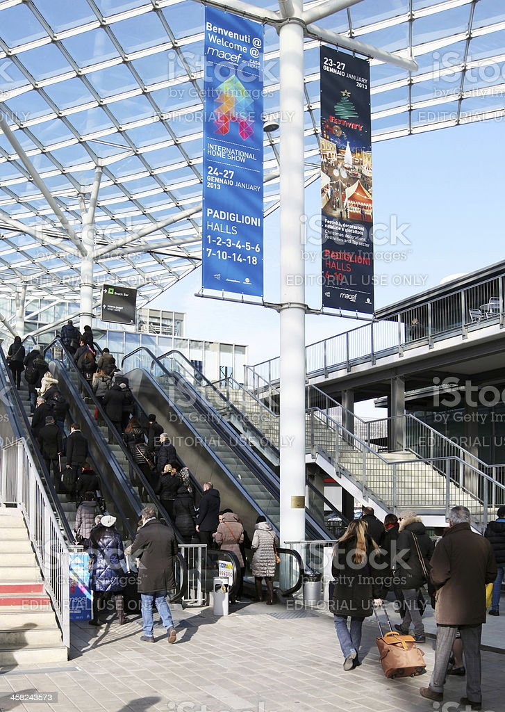 Entering Exhibition Fiera Italy People Macef International Home Show