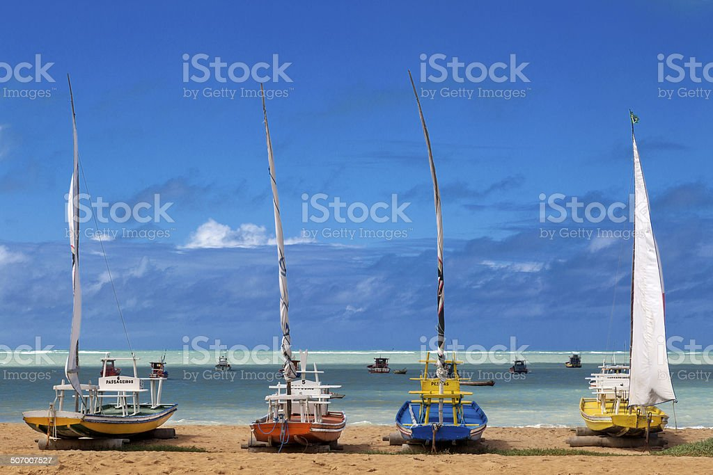 Maceio beach, northeast Brazil stock photo