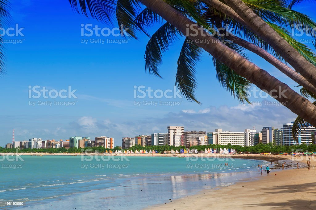 Maceio, northeast of Brazil stock photo