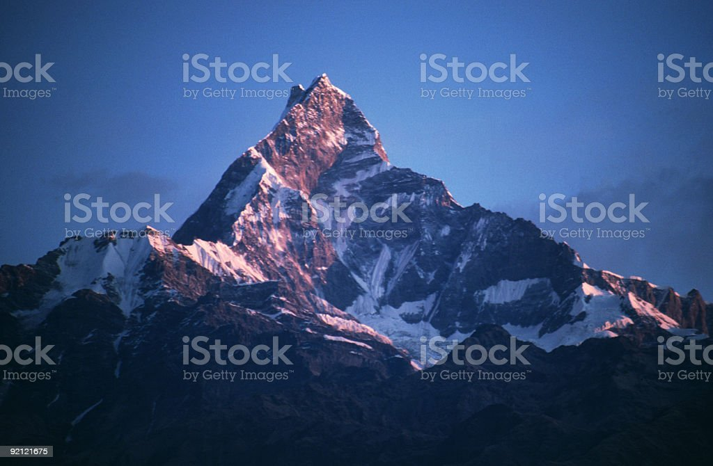 Machapuchare  (6993m) , Nepal royalty-free stock photo