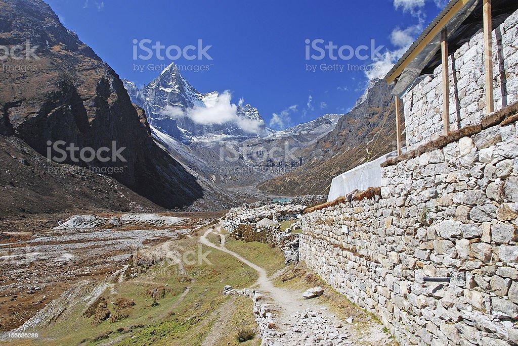 Machermo village, Himalayas, Nepal royalty-free stock photo