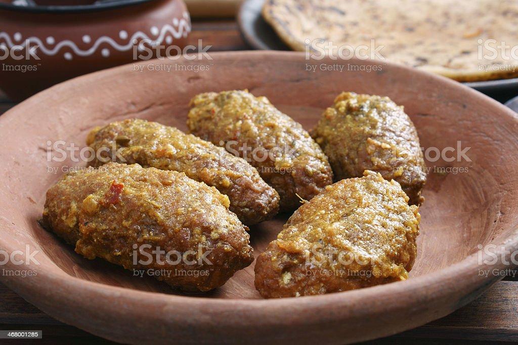 Machh mutton kofta is a kashmiri dish stock photo
