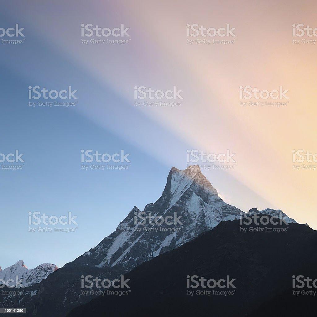 Machhaphuchhare (6,997 m) royalty-free stock photo