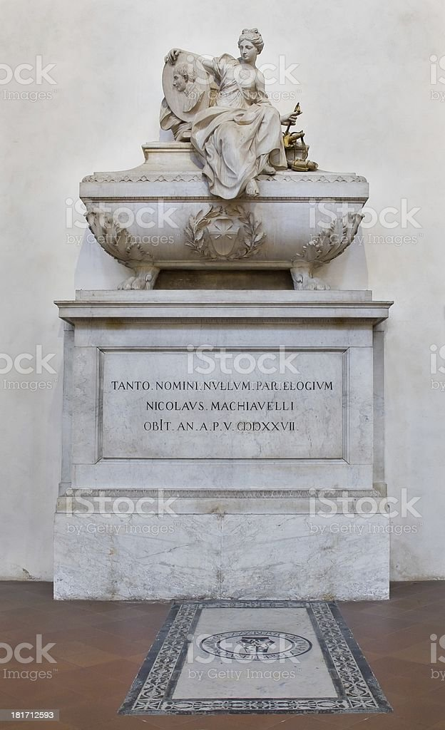 Machiavelli's Tomb at Basilica of Santa Croce. Florence, Italy royalty-free stock photo