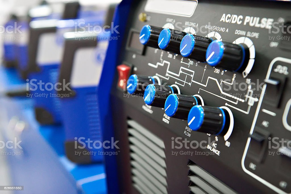 Machine argon arc welding stock photo