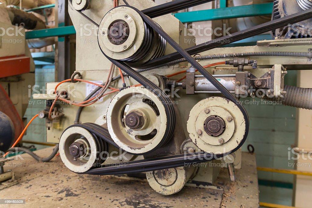 machine belt stock photo