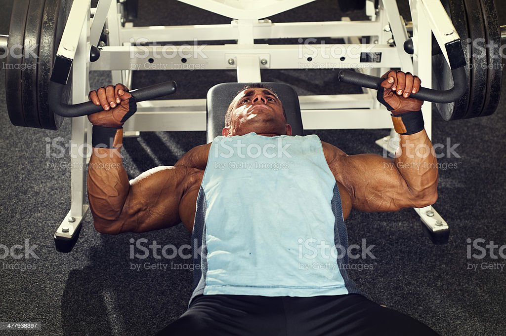 Machine Bench Press royalty-free stock photo