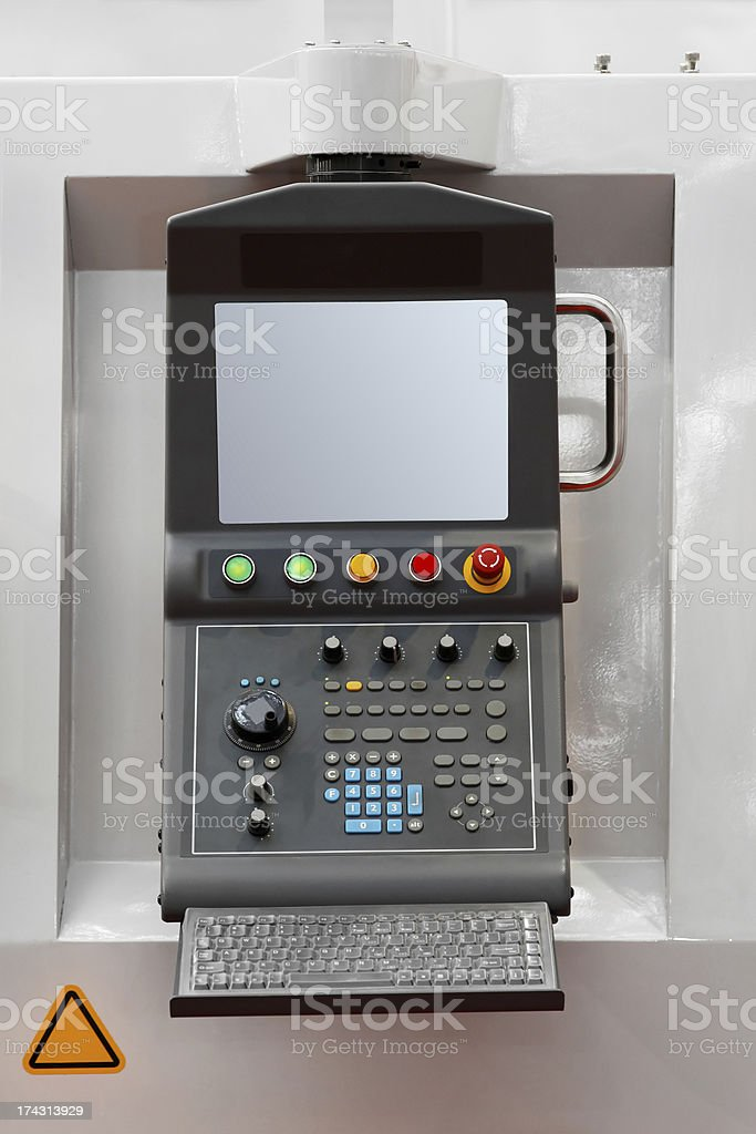 Machine control computer royalty-free stock photo