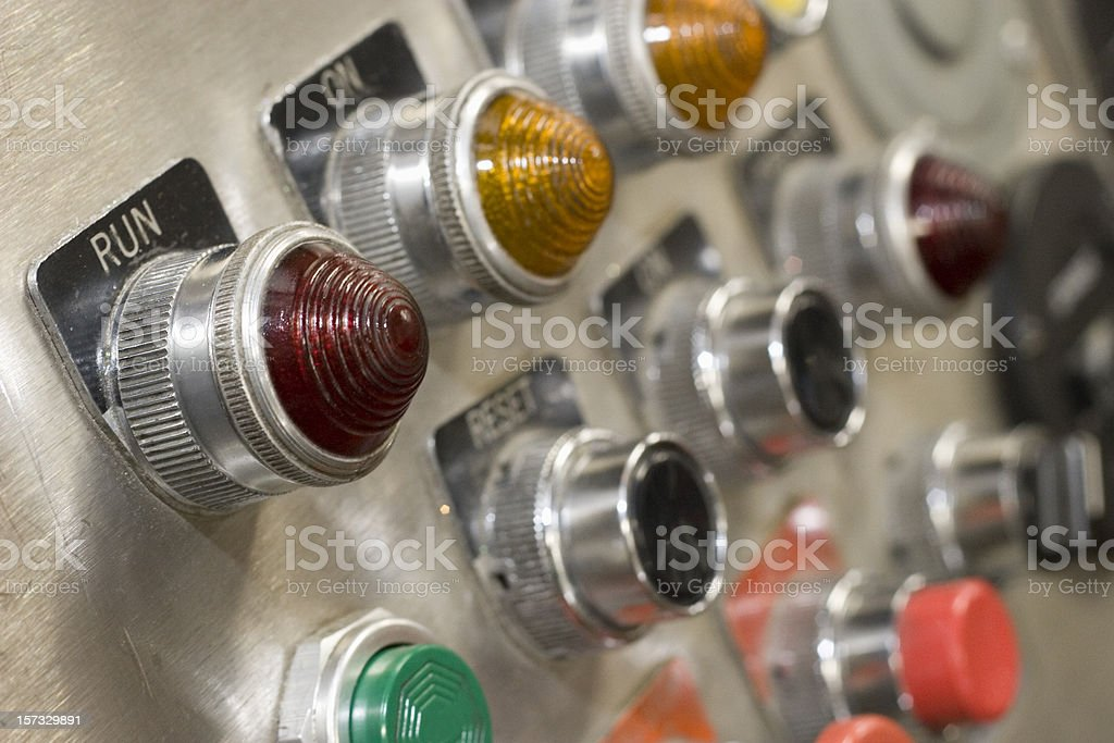 Machine Control Panel royalty-free stock photo