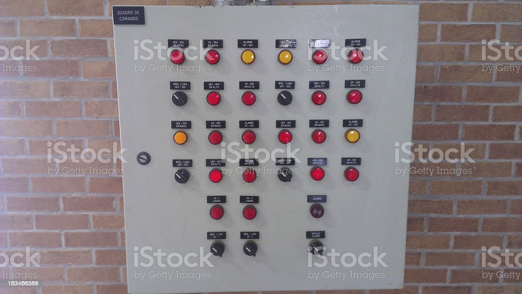 machine control with buttons royalty-free stock photo
