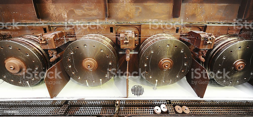 Machine for wire production royalty-free stock photo