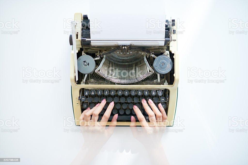 Machine for writing stock photo