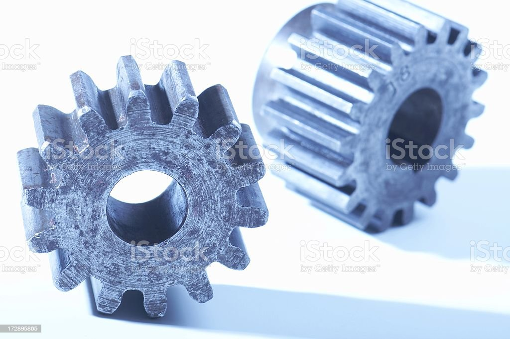 machine gears, tungsten white balance, inaltered from raw file stock photo